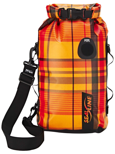SealLine Discovery Dry Bag 10l orange plaid